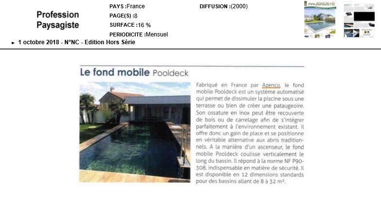 Le Fond mobile Pooldeck d'Azenco